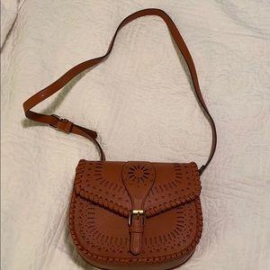 Sole society Kianna lasercut saddle bag.
